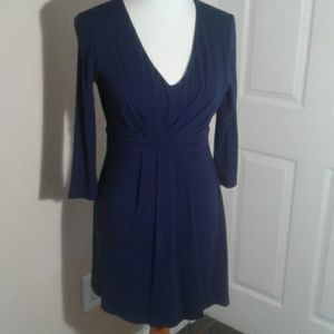 Boden WL861 Gathered Jersey Tunic Dress in Navy